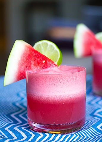 Watermelon Coconut Cocktail -- The watermelon and coconut water is refreshing. And the rum adds a kick! | wearenotmartha.com
