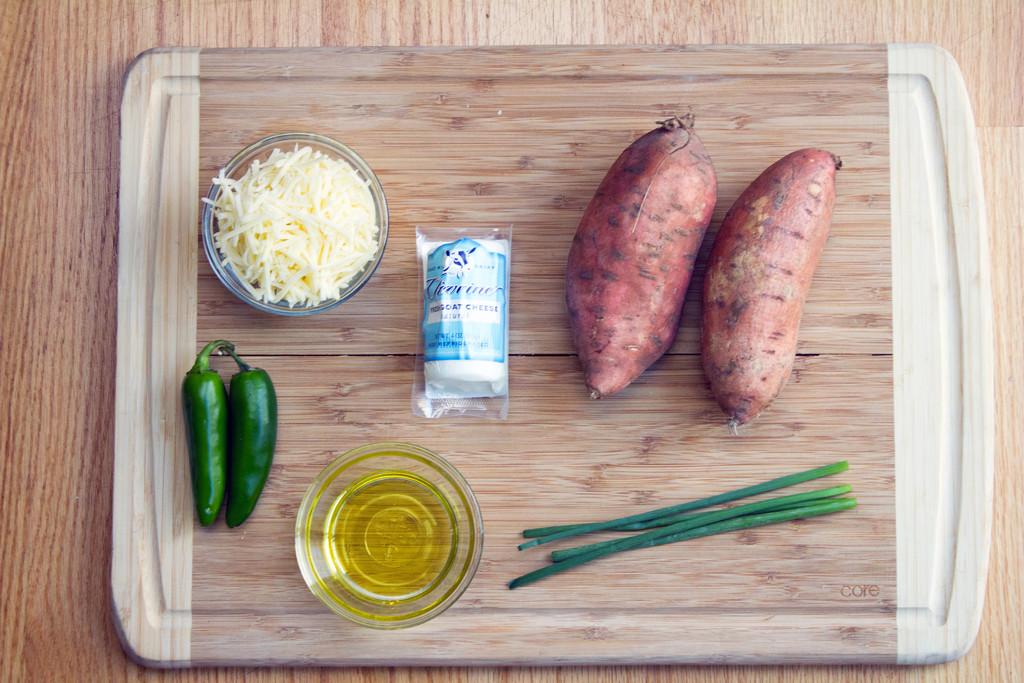 Wavy Sweet Potato Nachos with Whipped Goat Cheese Ingredients