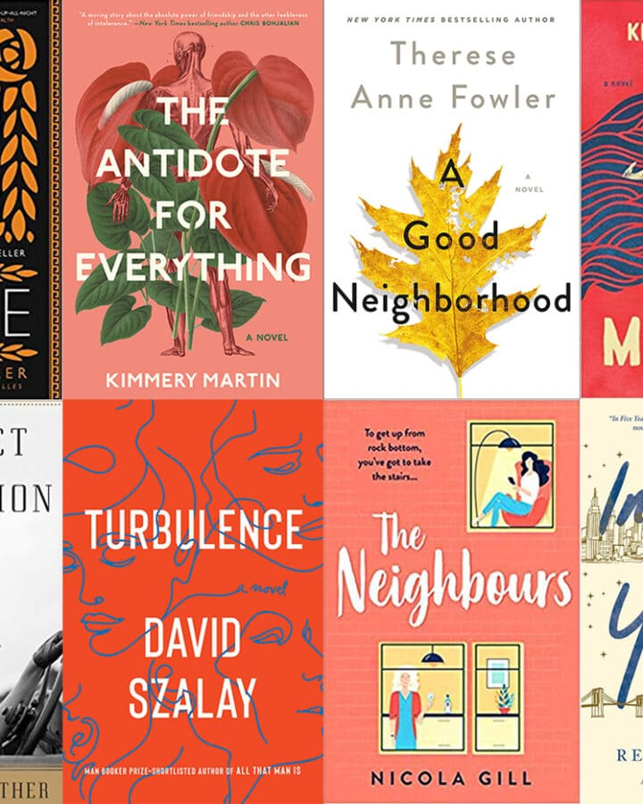 Collage of the book covers for all the books I read in January 2020, including Circe, The Antidote for Everything, A Good Neighborhood,The Mercies, A Perfect Explanation, Turbulence, The Neighbours, and In Five Years
