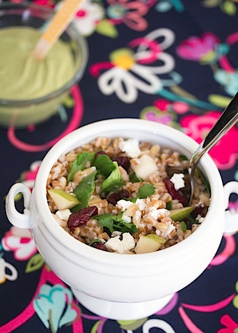 Wheat Berry and Barley Salad with Pears and Goat Cheese