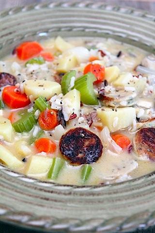 Wild Rice Chicken Sausage Stew