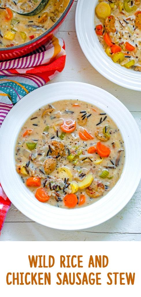 Wild Rice and Chicken Sausage Stew