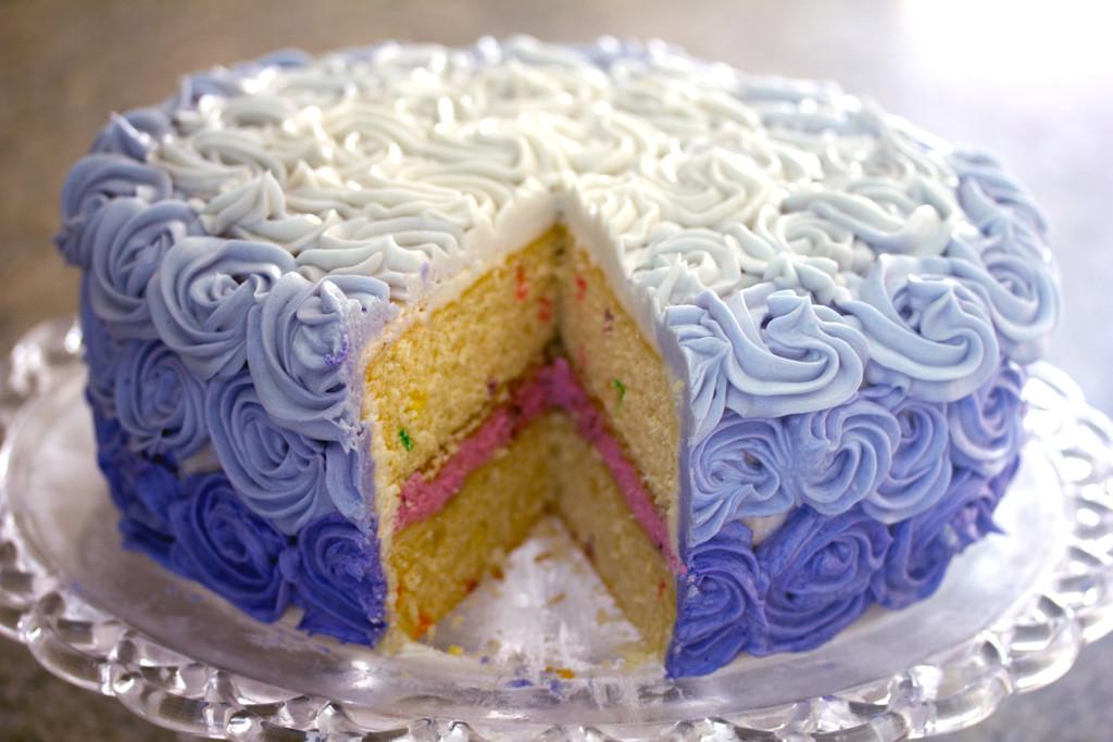 Wilton Rosette Ombre Cake 11