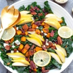 Winter got you down? This Winter Kale Salad with Butternut Squash and Pears (and a meyer lemon vinaigrette) will cheer you right up! Not only does it tie together some of winter's most delicious flavors, but it's also packed with lots of vitamins and antioxidants.
