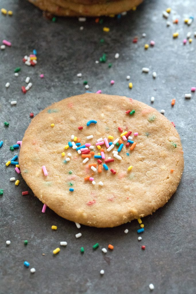 XL Peanut Butter Cookies with Sprinkles -- The very best peanut butter cookies | wearenotmartha.com