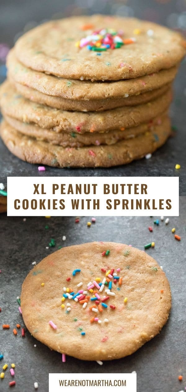 XL Peanut Butter Cookies with Sprinkles