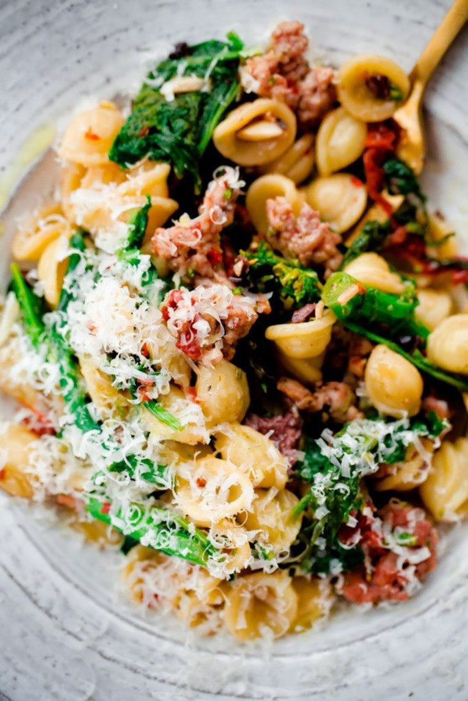 orecchiette-with-spicy-sausage-broccoli-rabe-sundried-tomatoes-and-olives-1-600x900