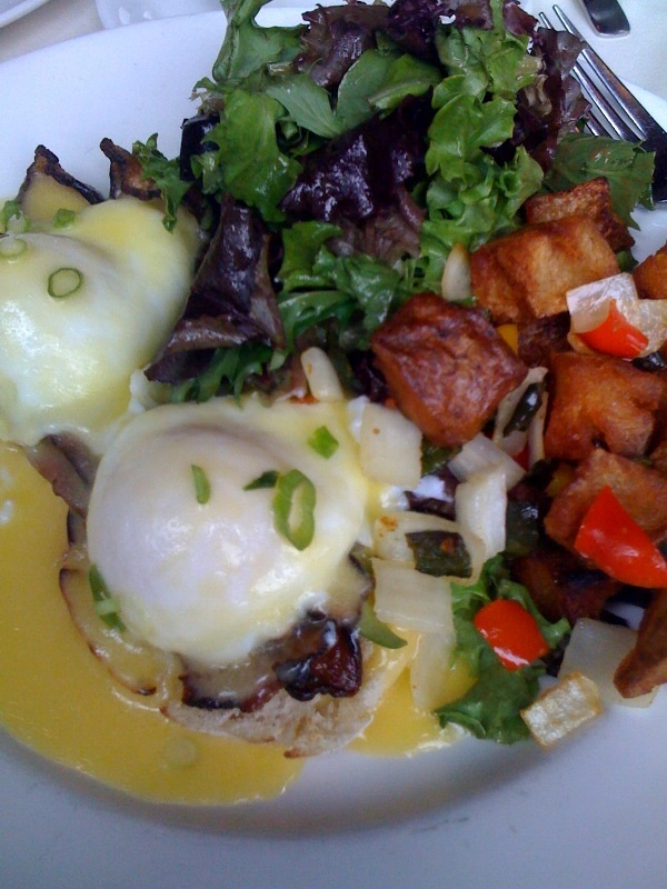 Eggs Benedict from the Fireplace in Brookline, MA