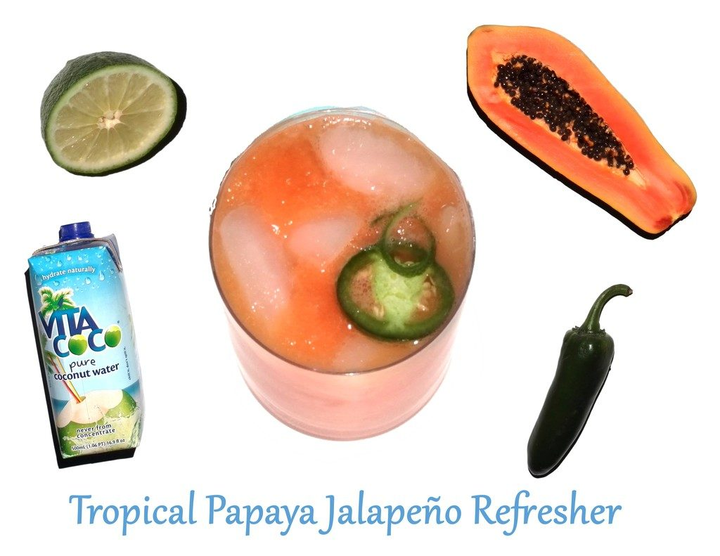 Tropical Papaya Refresher on HP Sprout|wearenotmartha.com