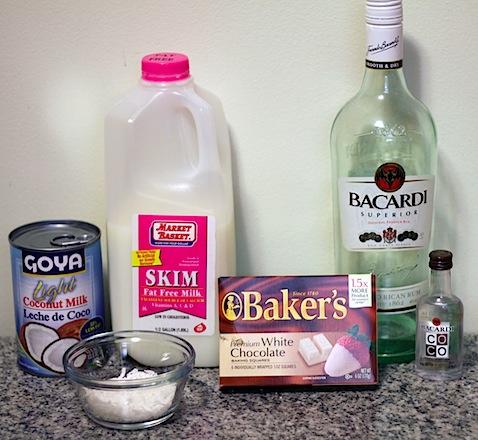 White-Chocolate Hot Cocoa With Coconut And Rum Recipe — Dishmaps