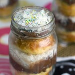 Coconut Chocolate Buttercream Cupcakes in Jars