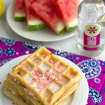 Fizzy Fruity Waffles with Sparkling Glaze