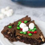 Chocolate Marshmallow Holiday Skillet Cookie